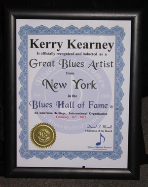 Kerry Kearney NY Blues Hall of Fame induction